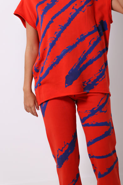 Sweatpant PT - Red/Blue