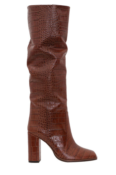 Moc Croco Square Toe Tall Boot