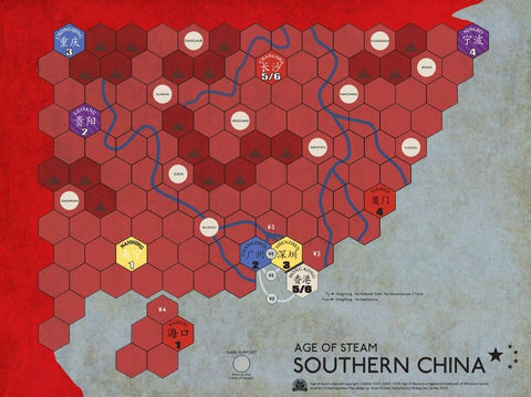 Age of Steam Maps: Southern China and Brummie Rails