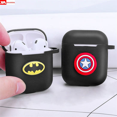 Cartoon Avengers Wireless Bluetooth Earphone Cases For AirPods Shockproof Protective Cover For Apple Air Pods Silicon Case Coque