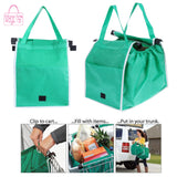 Grocery Grab Bag  - Foldable Eco-Friendly Reusable Large Capacity Tote Bag