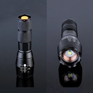 T6 High Powered Tactical Flashlight LED Light 5 Modes Waterproof Tactical Flashlight Torch with 18650 Lithium Ion Battery