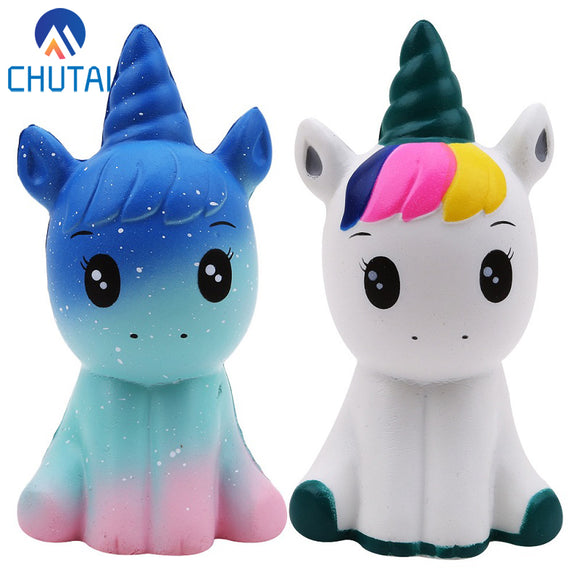 Jumbo Kawaii Colorful Galaxy Unicorn Squishy Doll Slow Rising Stress Relief Squeeze Toys for Baby Kids Xmas Gift 12*6*5CM