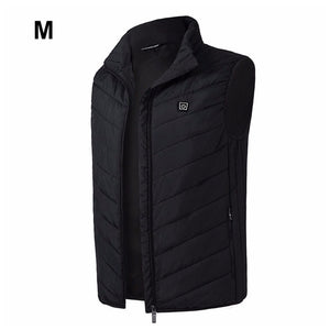 Outdoor Men Electric Heated Vest USB Heating Vest Winter Thermal Cloth Feather Hot Sale Camping Hiking Warm Hunting Jacket