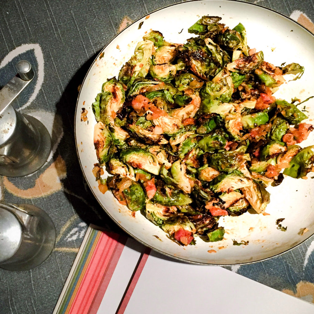Bobbie's Brussels Sprouts with Pancetta (Or Bacon. Or Neither)