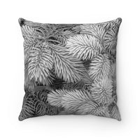 Black & White Evergreen Faux Suede Square Pillow