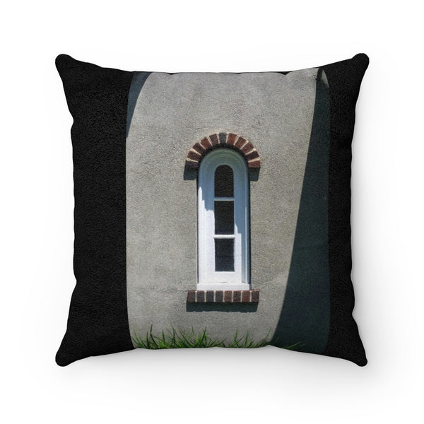 Window Checkers Faux Suede Square Pillow