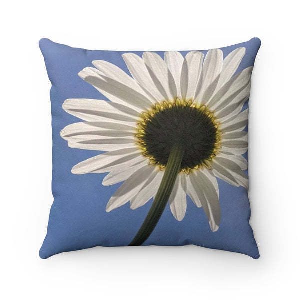 Daisy Faux Suede Square Pillow