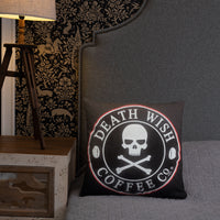 Glory to Death Wish Coffee Throw Pillow
