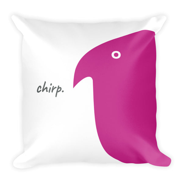 Chirp Chirp Chirp Pillow - offbeatpillows