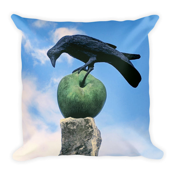 Crow Apple Outhouse Pillow