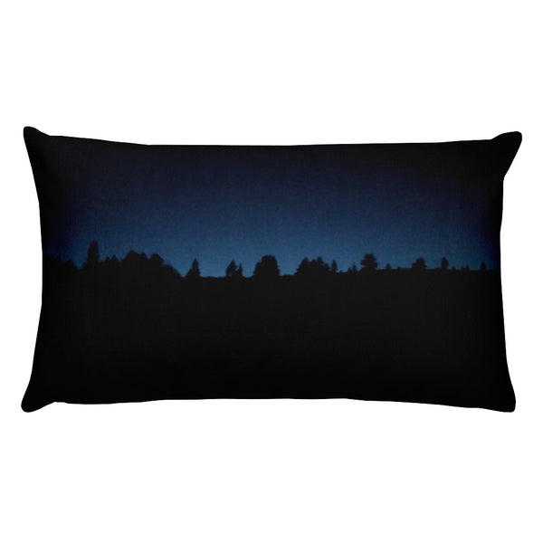 Blue Sunset and Fish Eye Sunset Pillow