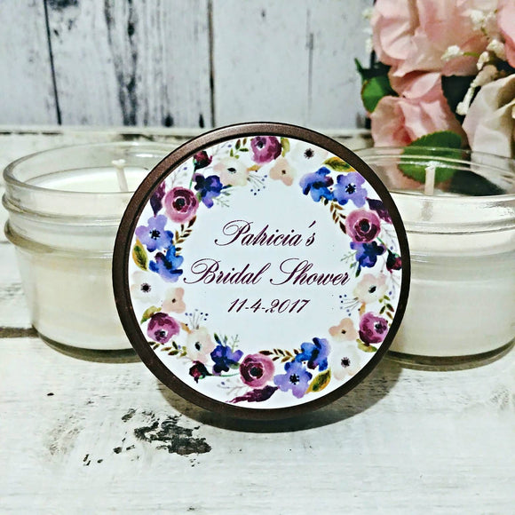 Bridal Shower Favors - Bridal Party Candles - Bridal Party Favors - Bridal Shower Party Gifts - Bridal Shower Candle Favors - Set of 12