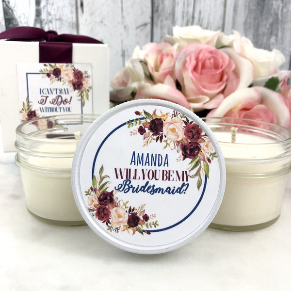 1 Bridesmaid Proposal Gift - Bridesmaid proposal Candle - Bridesmaid gift - Bridesmaid Proposal - Will you Be My Bridesmaid