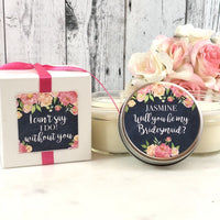 Will you be my bridesmaid proposal Will you be my bridesmaid Candle Asking Bridesmaid gift Candle Bridesmaid proposal Candle
