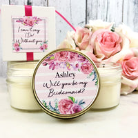 1 Floral Bridesmaid Proposal Candle