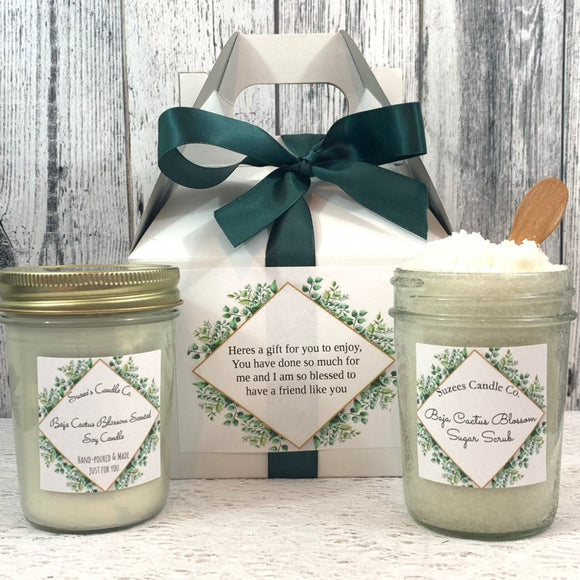 Personalized Gift Set - Personalized Spa Gifts - Personalized Gift Box - Spa Candle - Spa Gift Set - Gift Set For Her - Candle and Bath Salt