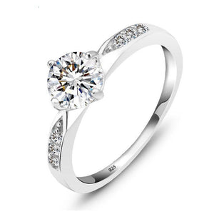 925 Sterling Silver Ring Classic Wedding