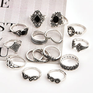 15 Pcs/set Bohemian Ring Set