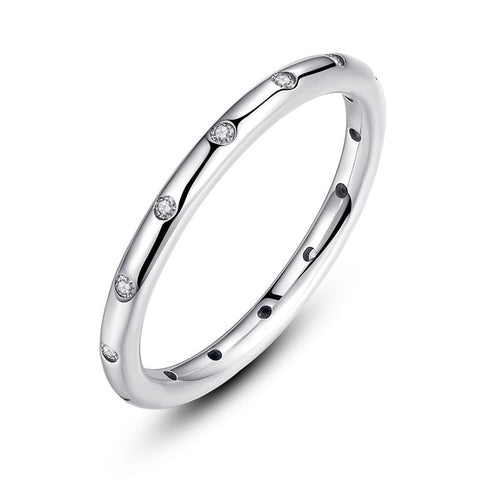 925 Sterling Silver Droplets Stackable Finger Classic Ring