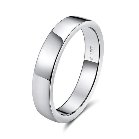 925 Sterling Silver Simple Ring for Women