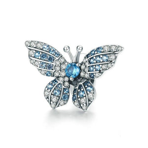 Blue Butterfly Beads - 925 Sterling Silver