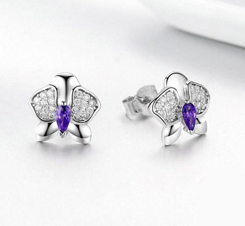 Orchid Flower - 925 Sterling Silver