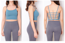 cage strap tops with built in bra for yoga and fitness in Hong Kong