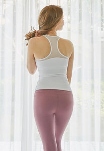 Lycra tops with built in bra for yoga classes in Hong Kong