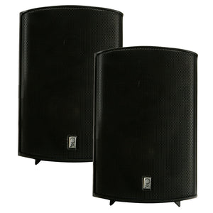 "Poly-Planar Compact Box Speaker - 7-11/16"" x 5-1/8"" x 4-11/16"" - (Pair) Black [MA7500B]"