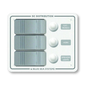 Blue Sea 8274 Water Resistant Panel - 3 Position - White - Vertical Mount [8274]
