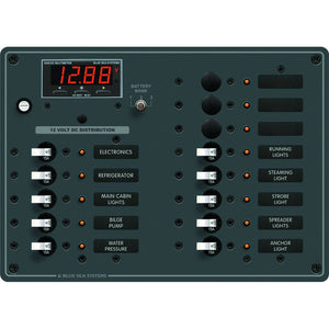 Blue Sea 8403 DC Panel 13 Position w/ Multimeter [8403]