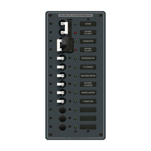 Blue Sea 3566 AC Toggle Source Selector (230V) - 2 Sources + 9 Positions [8566]