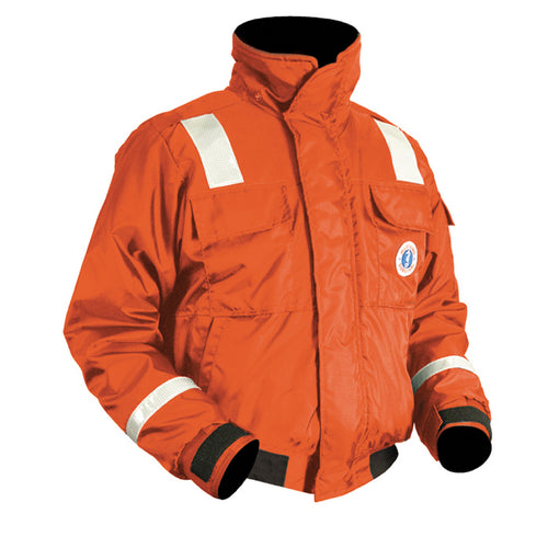 Mustang Classic Bomber Jacket w/SOLAS Reflective Tape - X-Large - Orange [MJ6214T1-XL-OR]
