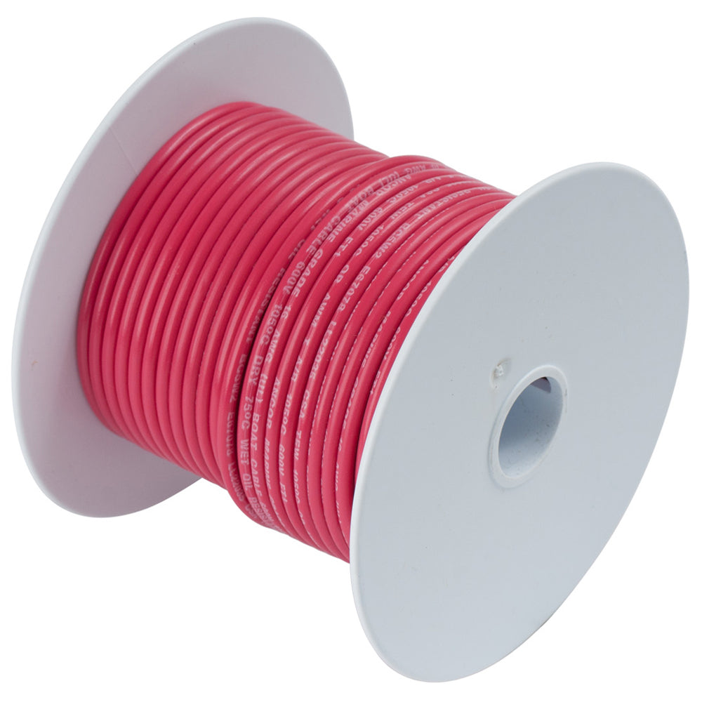 Ancor Red 18 AWG Tinned Copper Wire - 100' [100810]