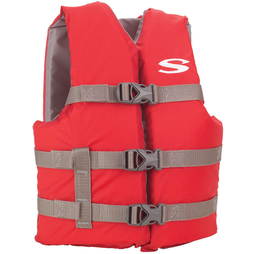 Stearns Classic Youth Life Jacket - 50-90lbs - Red/Grey [3000004472]