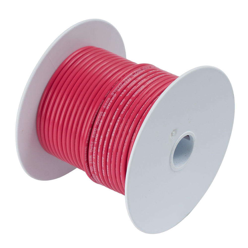 Ancor Red 8 AWG Tinned Copper Wire - 50' [111505]