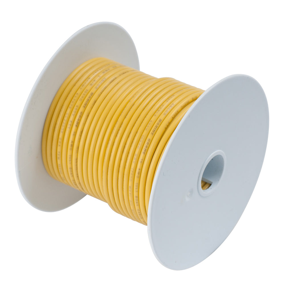 Ancor Yellow 6 AWG Tinned Copper Wire - 25' [112902]