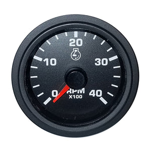 "Faria 2"" Tachometer Variable Frequency 4000 RPM Gauge - Black - Bulk Packaging [TC5039]"