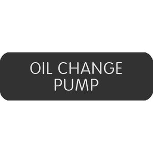 "Blue Sea Large Format Label - ""Oil Change Pump"" [8063-0331]"