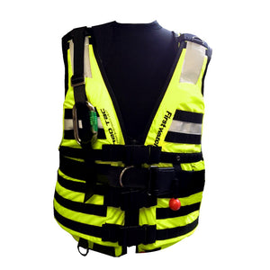 First Watch HBV-100 High Buoyancy Type V Rescue Vest - X-Large-XXX-Large - Hi-Vis Yellow [HBV-100-HV-XL-3XL]