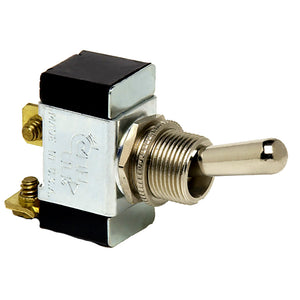 Cole Hersee Heavy-Duty Toggle Switch SPST Off-(On) 2 Screw [55020-BP]