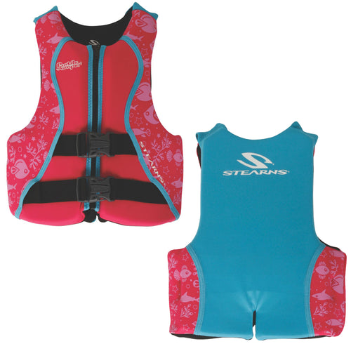 Puddle Jumper Youth Hydroprene Life Vest - Teal/Pink - 50-90lbs [2000038314]