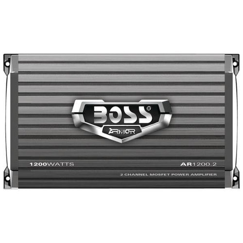 BOSS Audio Systems AR1200.2 Armor Series Full-Range Class AB Amp (2 Channels, 1,200 Watts)