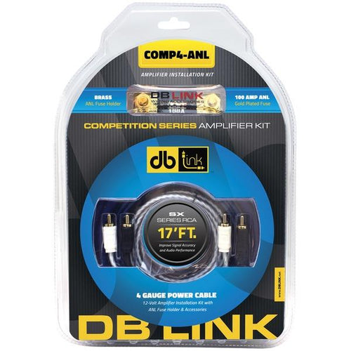 DB Link COMP4-ANL Competition Series Amp Installation Kit (4 Gauge, ANL)