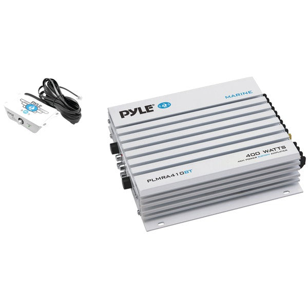 Pyle PLMRA410BT Elite Series Waterproof 400-Watt Marine Class AB Amp with Bluetooth(R) (4 Channels)