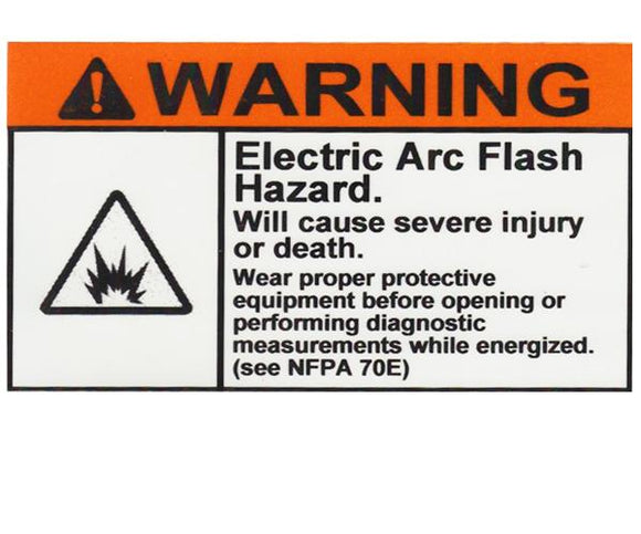 110.16 Arc-Flash Hazard Warning Vinyl Label<br>(UV materials)