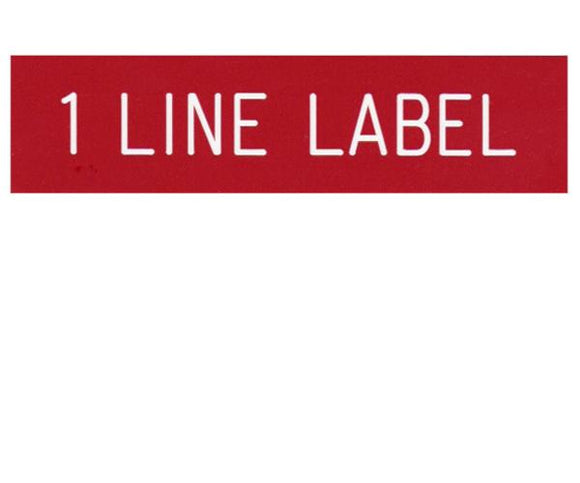 1-Line Engraved Label Designer<br>(UV Acrylic)