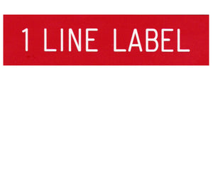 1-Line Printed Vinyl Label Designer<br>(UV materials)