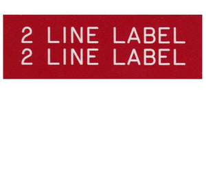 2-Line Printed Vinyl Label Designer<br>(UV materials)